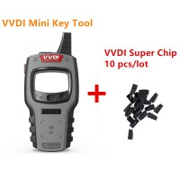 Global Version Xhorse VVDI Mini Key Tool Remote Key Programmer with VVDI Super Chip Transponder 10Pcs/lot