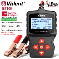 (US/UK Ship No Tax) Vident iBT100 Battery Analyzer for 12V regular flooded/ AGM flat plate/ AGM spiral/ GEL batteries