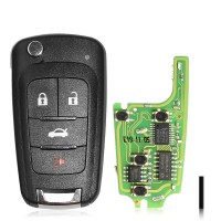 Hot XHORSE XNBU01EN VVDI GM FLIP KEY TYPE UNIVERSAL REMOTE KEY 4 BUTTONS 5pcs/lot (wireless remote Key)
