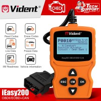 (UK Ship No Tax) VIDENT iEasy200 OBDII/EOBD+CAN Code Reader for Vehicle Checking Engine Light Car Diagnostic Scan Tool