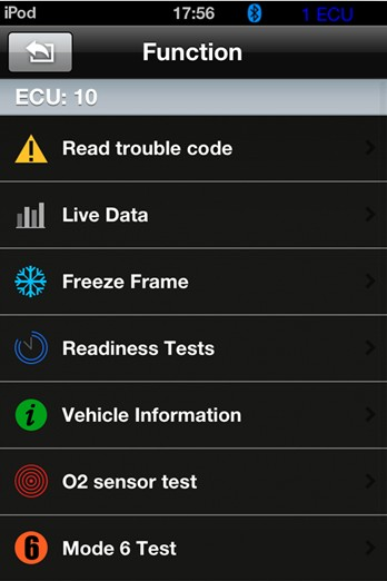 iobd2 bluetooth auto scanner for iphone/android