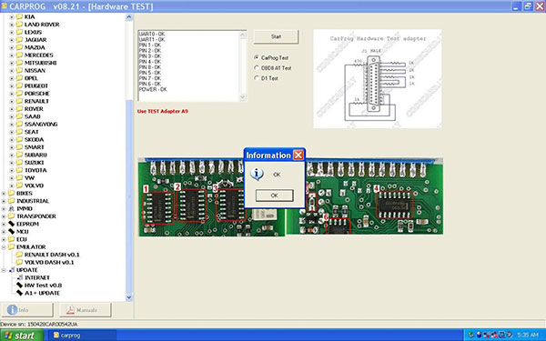 Carprog V8.21 Software