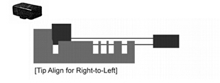 Use Right-to-Left Stopper Block to hold laser key with short length