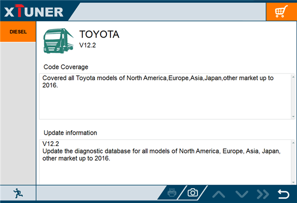 xtuner t1 for TOYOTA V12.2