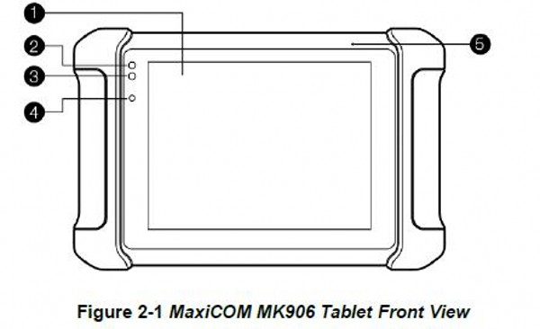 figure 2-1 MaxiCOM MK906 Tablet front view