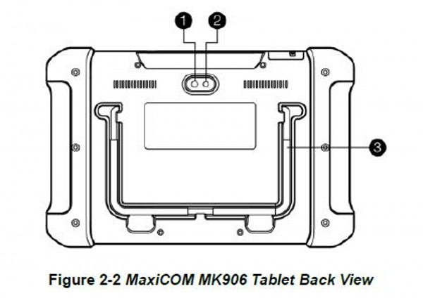 figure 2-2 MaxiCOM MK906 Tablet back view