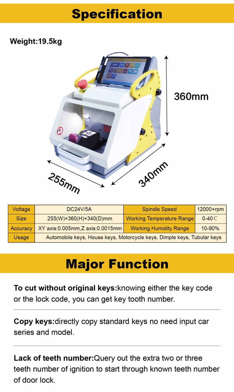 sec-e9 key copy duplicating machine