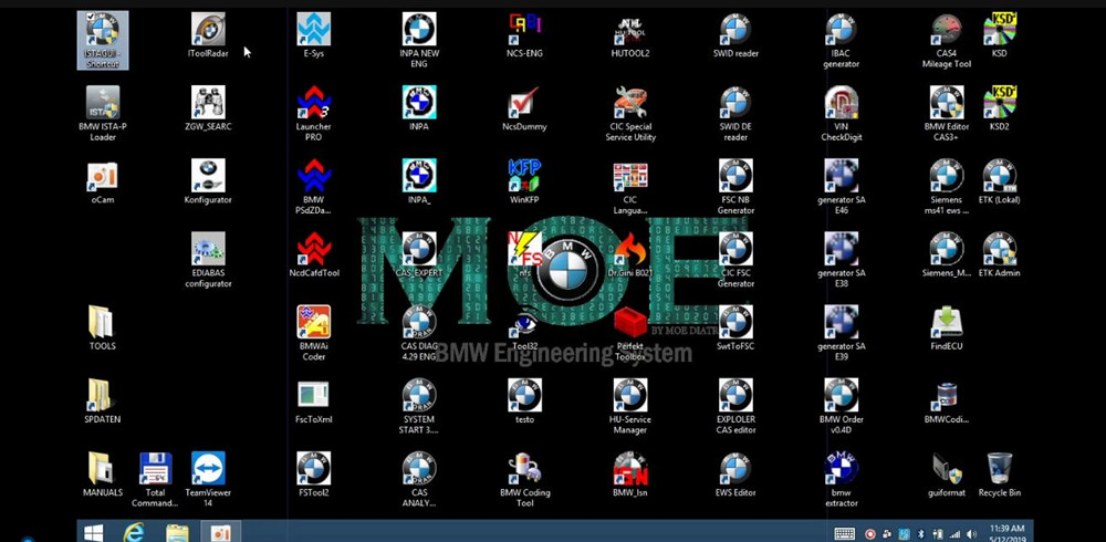 MOE BMW Engineering System All Software manual coding and