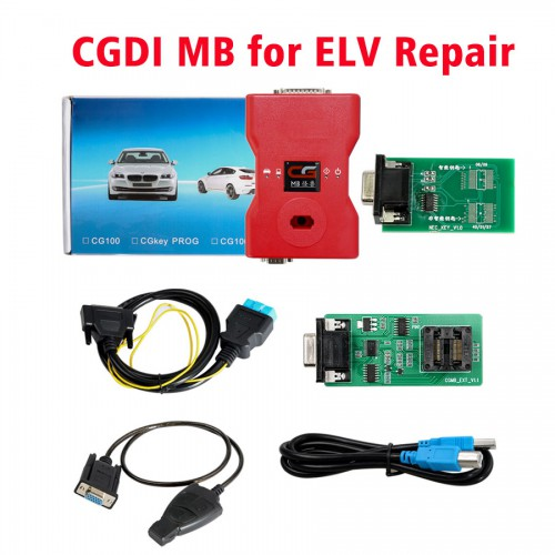 [7% OFF $687.27] [UK Ship No Tax] CGDI Prog MB Benz Key Programmer Support All Key Lost with ELV Repair Adapter