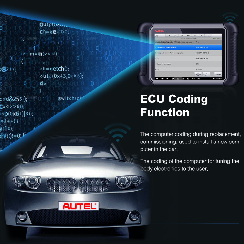 AUTEL MaxiSys MS906BT ecu coding function
