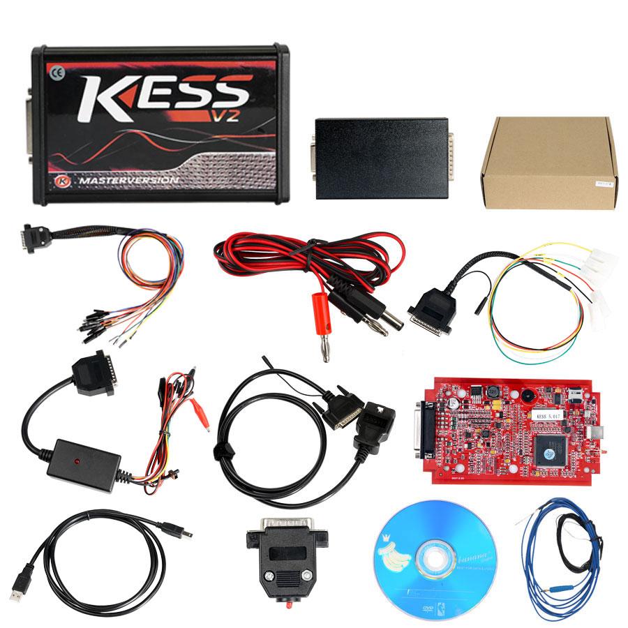 (6.18 Flash Sale) (UK Ship No Tax) Best V2.53 KESS V2 V5.017 Red PCB Firmware Supports Online Added 140 Protocol No Token Get Free ECM TITANIUM