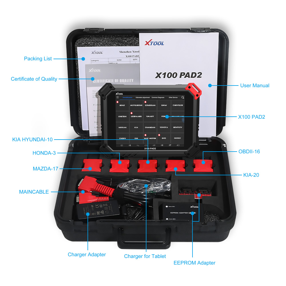 X100 PAD2 Package including