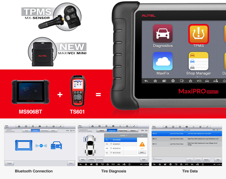 Complete and  Professional TPMS Functions
