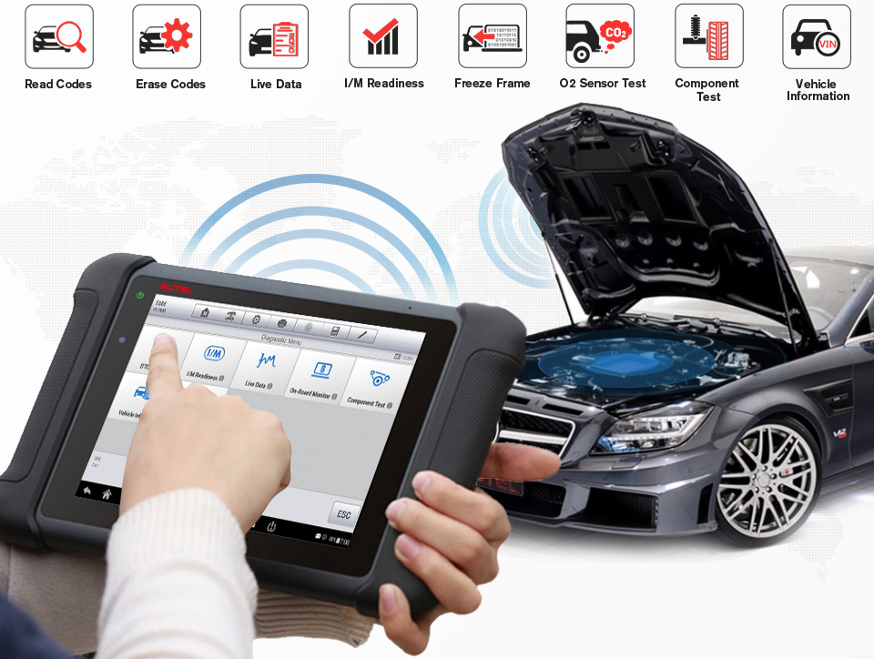 mp808ts Full OBD2 Functions