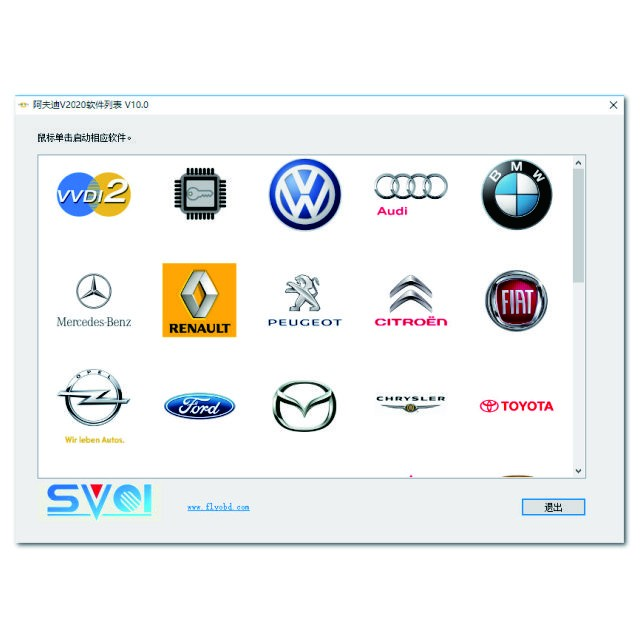 SVCI 2020 Software display