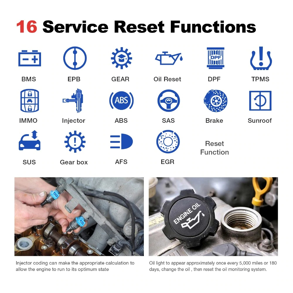 Launch thinkdiag 16 service reset functions