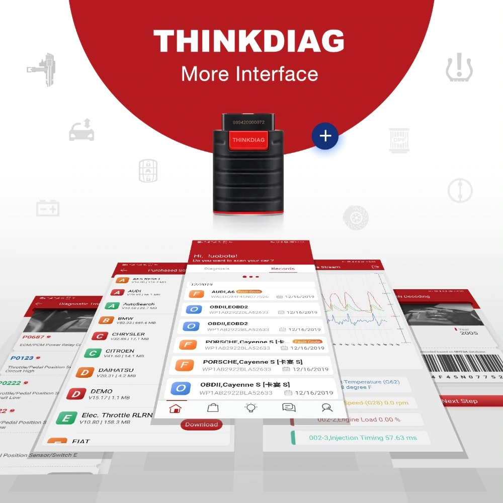 Launch thinkdiag more interface