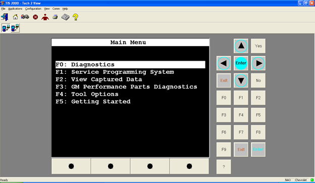 gm tech2 tis2000 software display
