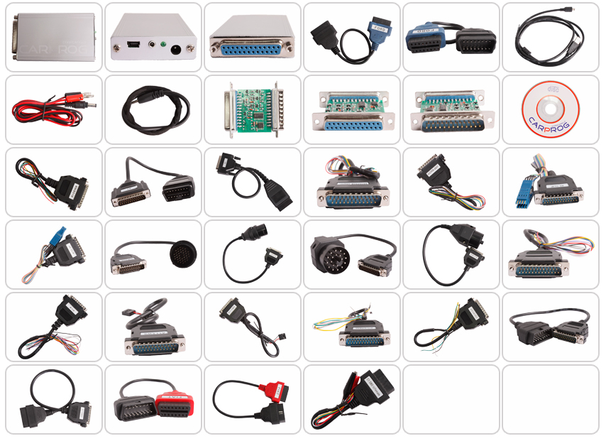 Carprog Full V10.05 ECU Programmer with 21 Adapters